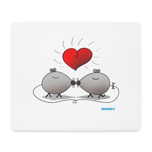 Mousepad Kissing Mice - Mouse Pad (horizontal)