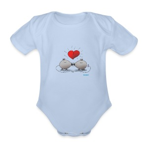 Baby Body Kissing Mice - Organic Short-sleeved Baby Bodysuit