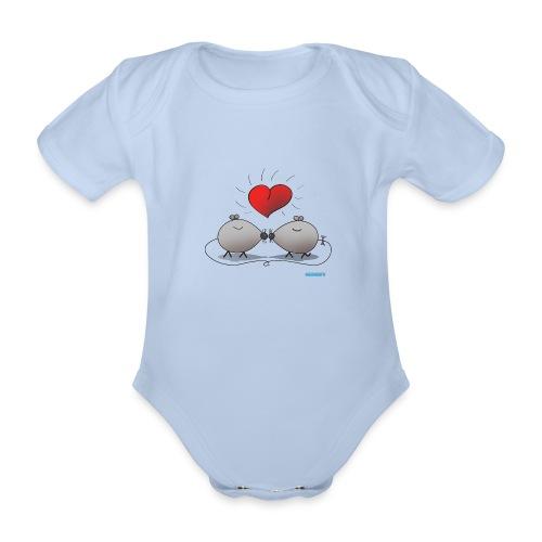 Baby Body Kissing Mice - Organic Short-sleeved Baby Bodysuit