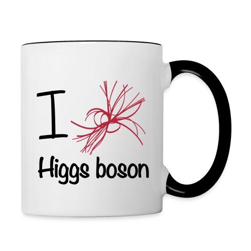 Tasse bicolore, I love Higgs boson - Mug contrasté