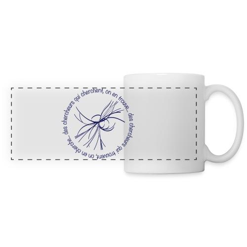 Tasse panoramique, Chercheur, boson de Higgs  - Mug panoramique contrasté et blanc