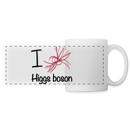 Tasse Panorama, I love Higgs boson - Mug panoramique contrasté et blanc