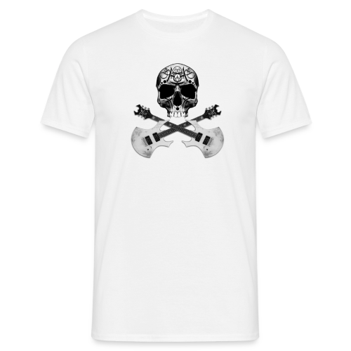 Skull Art Guitar - T-shirt Homme