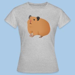 T-paita cremellä syyrianhamsterilla - Naisten t-paita