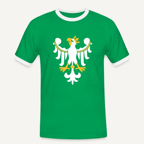 Orzeł piastowski - Koszulka męska z kontrastowymi wstawkami