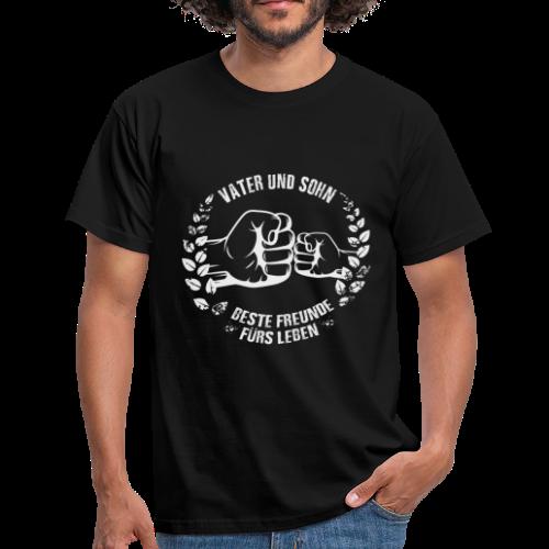 Vater & Sohn (front) - Männer T-Shirt