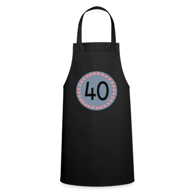 Black 40th birthday  Aprons
