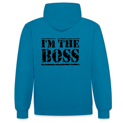 Brandon's I'm the boss jupper - Contrast Colour Hoodie