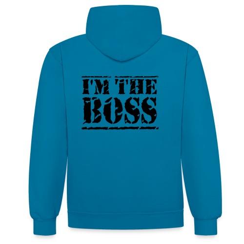 Brandon's I'm the boss jupper - Contrast Colour Hoodie