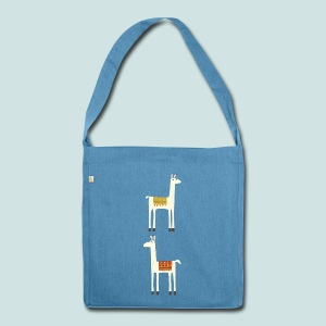 Everyone lloves a llama - Shoulder Bag made from recycled material