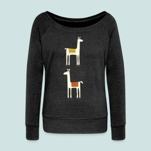 Everyone lloves a llama - Women's Boat Neck Long Sleeve Top