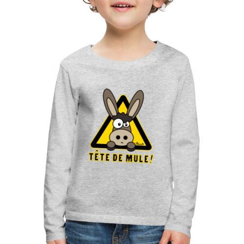Tee shirt Enfant Âne, Tête de Mule - T-shirt manches longues Premium Enfant