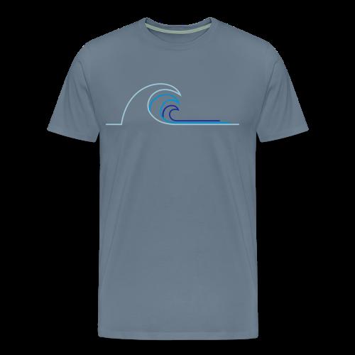 Welle - Männer Premium T-Shirt