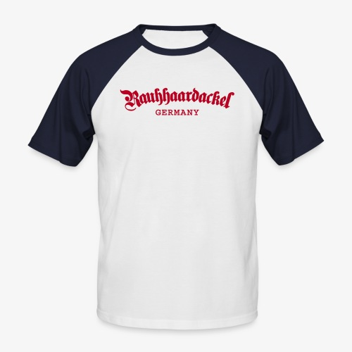 Rauhhaardackel Germany - Männer Baseball-T-Shirt