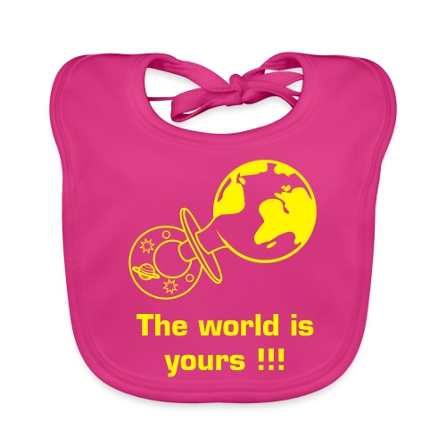 Babygirl, the world is yours!!! - Bio-slabbetje voor baby's