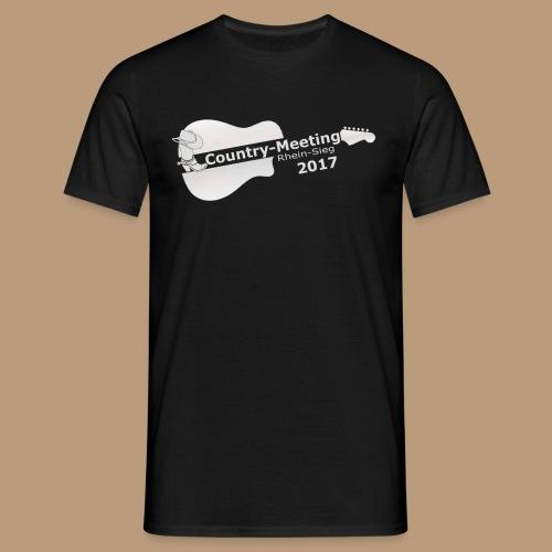 Herren T-Shirt Meeting 2017 Druck weiss - Männer T-Shirt