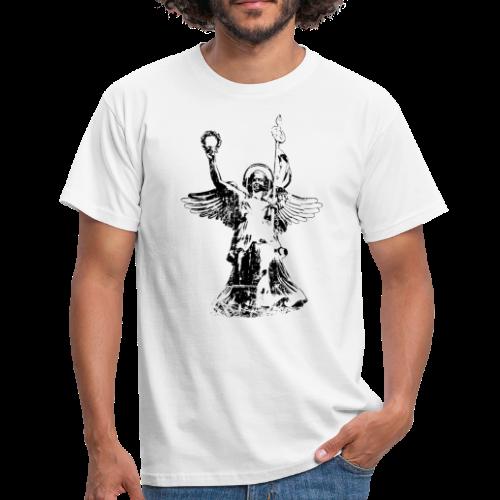 Goldelse mit Kopfhörer (Vintage Schwarz) Berlin T-Shirt - Männer T-Shirt