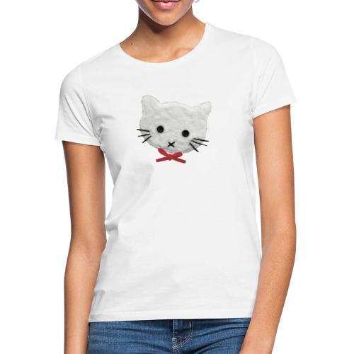 Frauen T-Shirt mit weißer Katze - Frauen T-Shirt