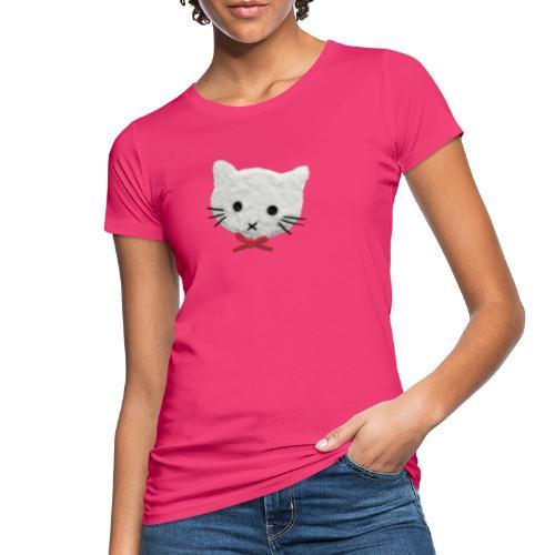 Bio-Frauen-T-Shirt mit weißer Katze - Frauen Bio-T-Shirt