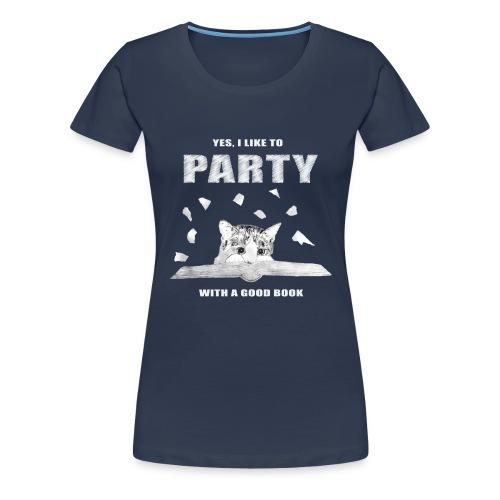 Book Party - Navy Blue - Women's Premium T-Shirt
