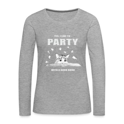Book Party - Long Sleeve - Women's Premium Longsleeve Shirt