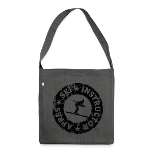 Après-Ski Instructor Seal (Vintage/Black) Recycling Tasche - Schultertasche aus Recycling-Material