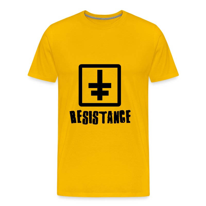 tee shirt t shirt resistance jaune spreadshirt. Black Bedroom Furniture Sets. Home Design Ideas