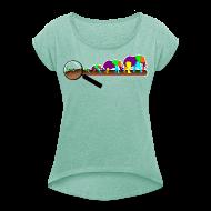 T-Shirts ~ Frauen T-Shirt mit gerollten Ärmeln ~ Mücke zu Elefant - DIGITAL