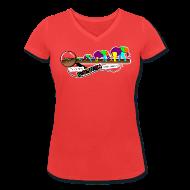 T-Shirts ~ Frauen T-Shirt mit V-Ausschnitt ~ Mücke zu Elefant - DIGITAL