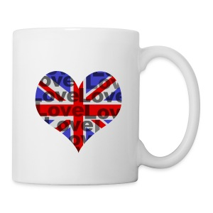 English Heart & Love - Tasse
