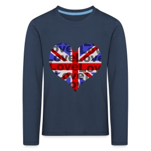 English Heart & Love - Kinder Premium Langarmshirt