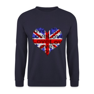 English Heart & Love - Männer Pullover