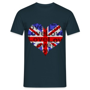 English Heart & Love - Männer T-Shirt