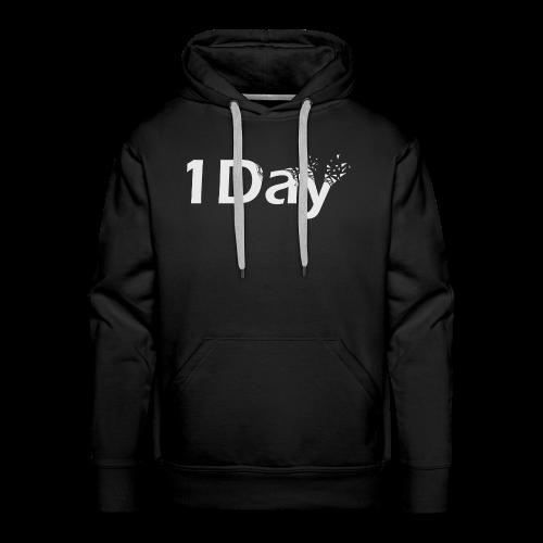 Sweat Shirt 1Day Noir - Sweat-shirt à capuche Premium pour hommes