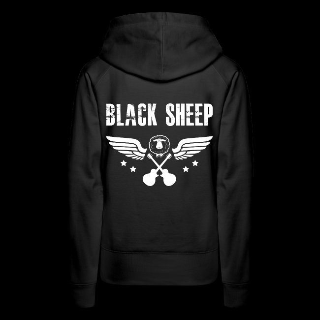 Black Sheep Wings Kapuzenpullover Frauen Premium