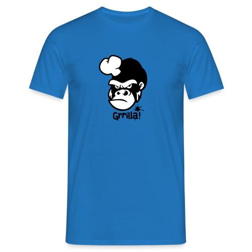 Grilla Männershirt Blau - Männer T-Shirt