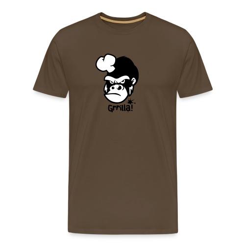 Grilla Männershirt Braun - Männer Premium T-Shirt