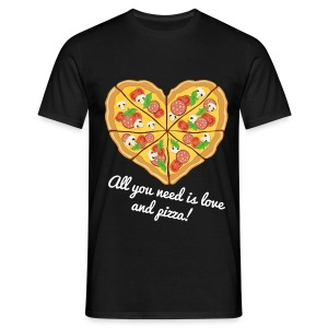 Pizza Love - Männer T-Shirt