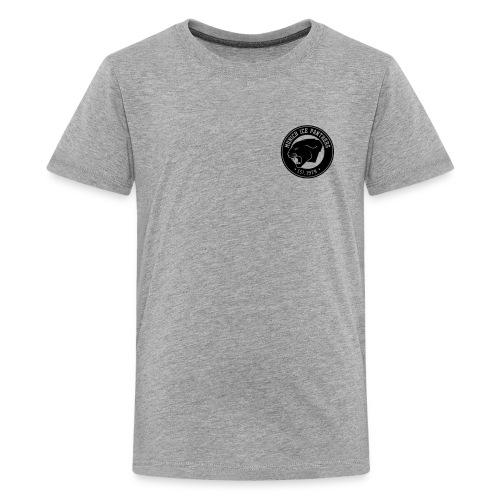 Brand only / front Junior T-Shirt | Gray / Black | Digital Direktdruck - Teenager Premium T-Shirt