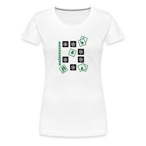 Welovesnow Memory Cards Tee - Frauen Premium T-Shirt
