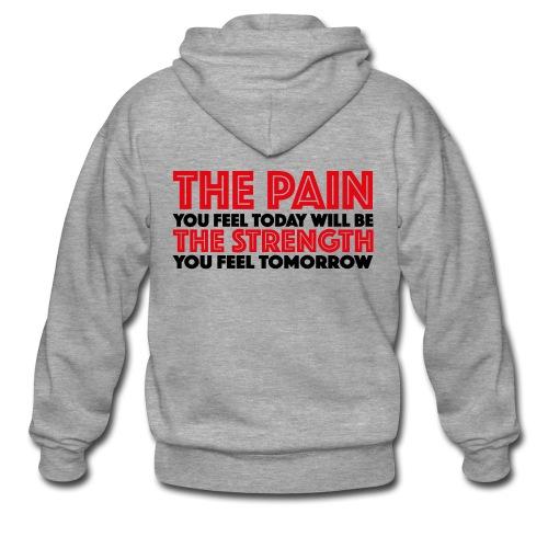 The Pain & The Strength Hoodie - Männer Premium Kapuzenjacke