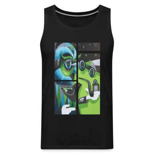 Green Owl Tanktop (black) - Männer Premium Tank Top