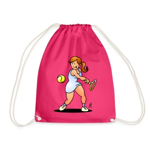 Tennis girl hitting a backhand Bags & Backpacks - Gymtas