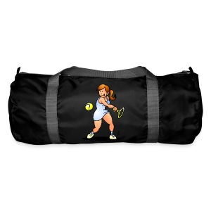 Tennis girl hitting a backhand Bags & Backpacks - Sporttas