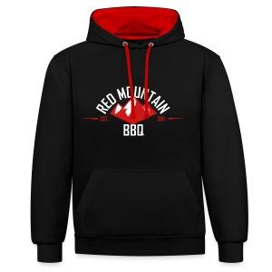 Redmountain-BBQ Hoodie rot/schwarz - Kontrast-Hoodie