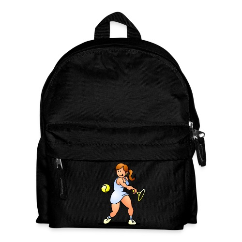 Tennis girl hitting a backhand Bags & Backpacks - Kids' Backpack