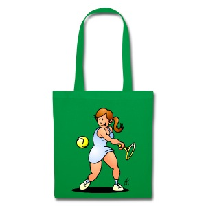 Tennis girl hitting a backhand Bags & Backpacks - Tas van stof