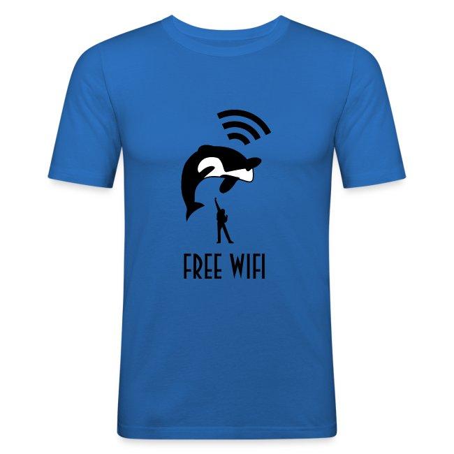Free Wifi mannen slimfit