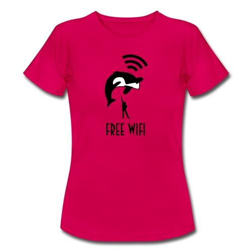 Free Wifi vrouwen t-shirt - Vrouwen T-shirt