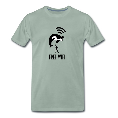 Free Wifi mannen premium - Mannen Premium T-shirt